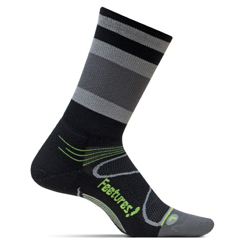 Feetures Elite LC Mini-Crew Unisex Black/Reflector