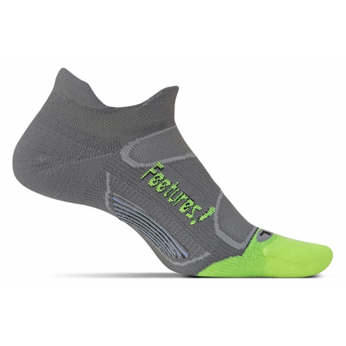 Feetures Elite LC No Show Tab Unisex Graphite/Reflector