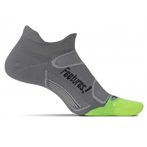 Feetures Elite LC No Show Tab Unisex Graphite/Black