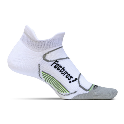 Feetures Elite LC No Show Tab Unisex White/Black