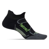 Feetures Elite LC No Show Tab Unisex Black/Reflector