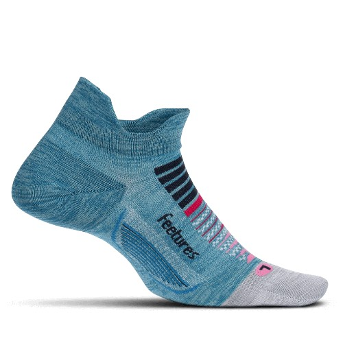 Feetures Elite LC No Show-Tab Women's Aurora Blue