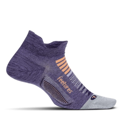 Feetures Elite LC No Show-Tab Women's Pulsar Purple