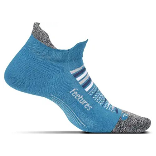 Feetures Elite LC No Show-Tab Unisex Maui Blue