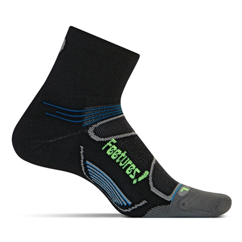 Feetures Elite LC Quarter Unisex Black/Reflector