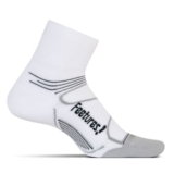 Feetures Elite LC Quarter Unisex White/Black