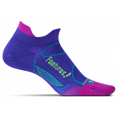 Feetures Elite ULC No Show Tab Unisex Baja Blue/Reflector - Feetures Style # E550501 S17