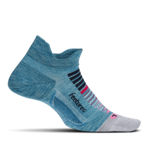 Feetures Elite ULC No Show Tab Women's Aurora Blue