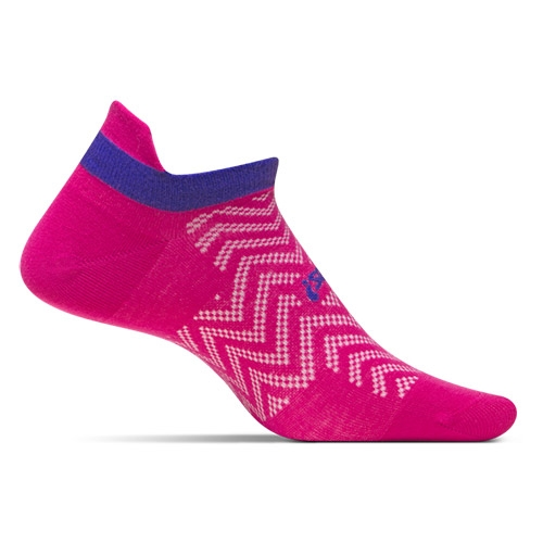 Feetures HP ULC No Show Tab Women's Chevron Pink