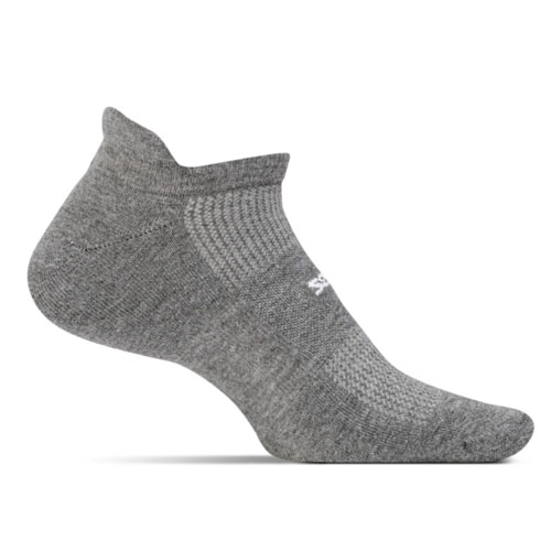 Feetures HP ULC No Show Tab Unisex Heather Grey