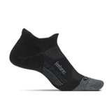 Feetures Merino 10 LC No Show Unisex Charcoal