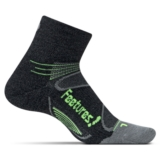 Feetures Merino+ LC Quarter Unisex Charcoal/Reflector