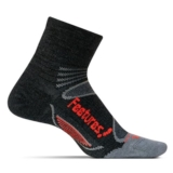 Feetures Merino+ UL Cushion1/4 Unisex Charcoal/Lava
