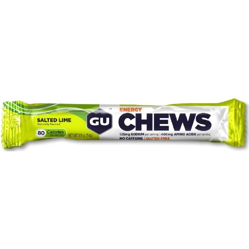 GU Energy Chews Single (2Serv) Salted Lime
