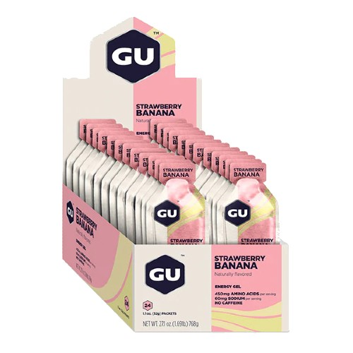 GU Gel Case of 24 Strawberry Banana