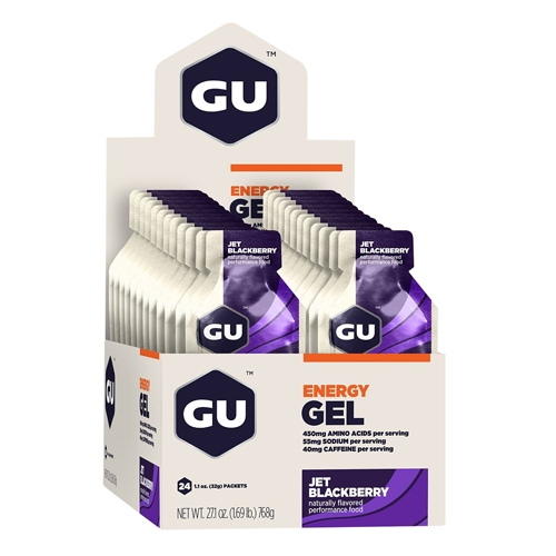 GU Gel Case of 24 Jet Blackberry