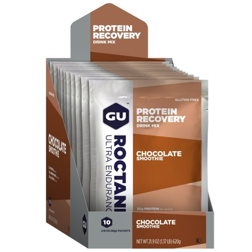GU Roctane Protein Recovery Chocolate Smoothie(10 Packets)