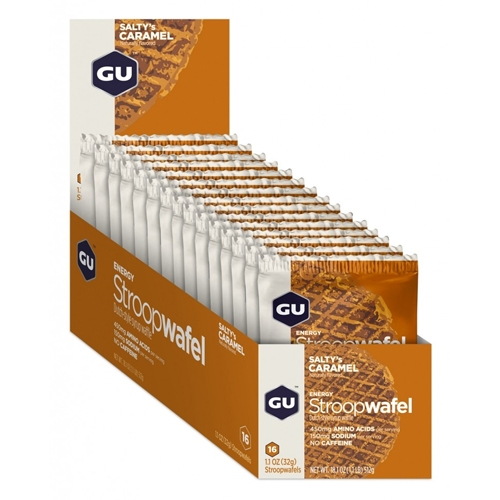 GU Stroopwafel Box of 16 Salty's Caramel