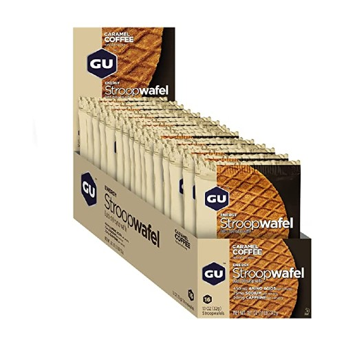 GU Stroopwafel Box of 16 Salted Chocolate (Gluten-Free)
