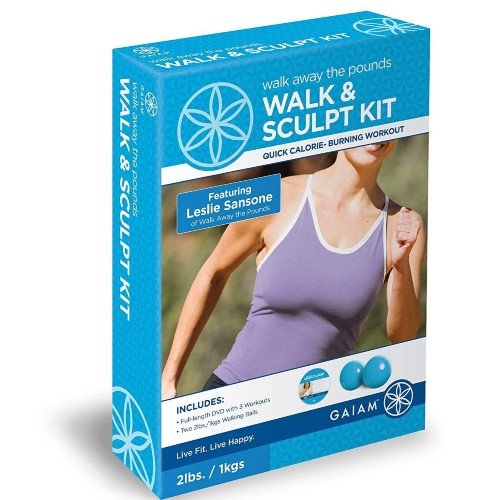 Gaiam Walk & Sculpt Kit DVD + 2 X 1lb Walking Balls