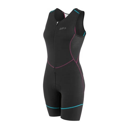 Garneau Tri Comp Suit Women's Black/Purple/Green - Garneau Style # 1058466.513 S19