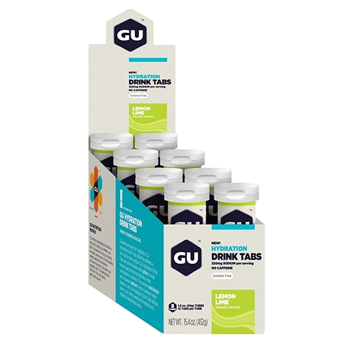 Gu Hydration Drink Tabs Lemon Lime Box of 8 Tubes