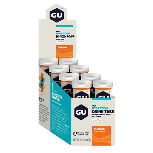 Gu Hydration Drink Tabs Orange Box of 8 Tubes