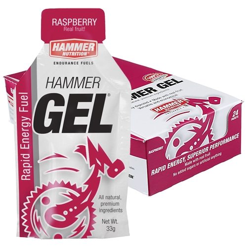 Hammer Gel Box of 24 Raspberry