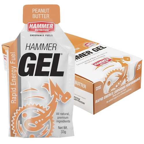 Hammer Gel Box of 24 Peanut Butter