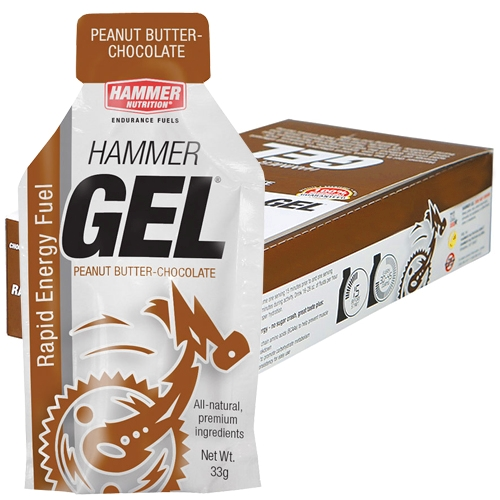 Hammer Gel Box of 24 Peanut Butter/Chocolate - Hammer Style # HBPC24 S20