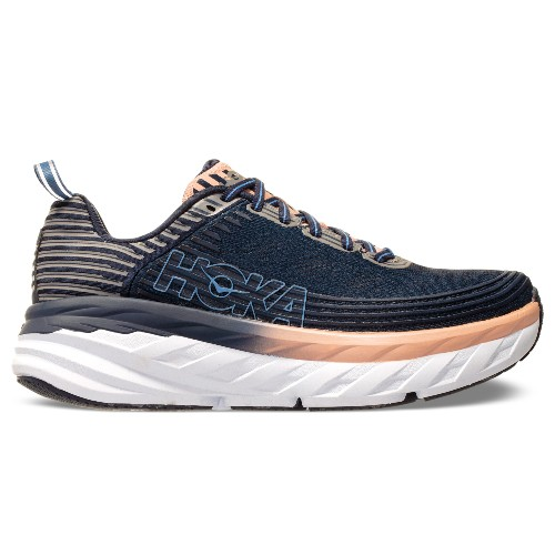 Hoka Bondi 6 Women's Mood Indiga/Dusty Pink