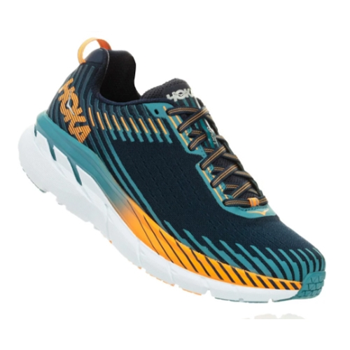 Hoka Clifton 5 Men's Black Iris/Storm Blue - Hoka Style # 1093757 BISB F18