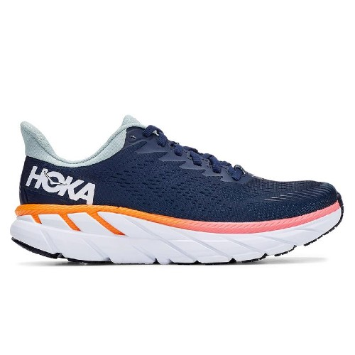Hoka Clifton 7 Women's Black Iris / Blue Haze