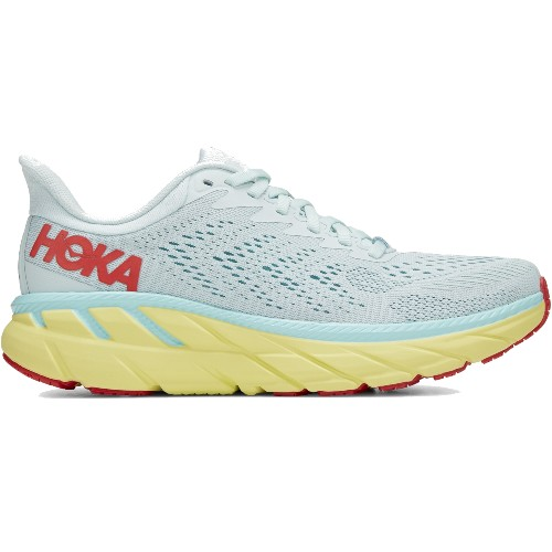 Hoka Clifton 7 Women's Morning Mist/Hot Coral
