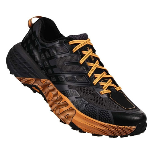 Hoka Speedgoat 2 Men's Black/Kumquat - Hoka Style # 1016795.BKMQ S18 O