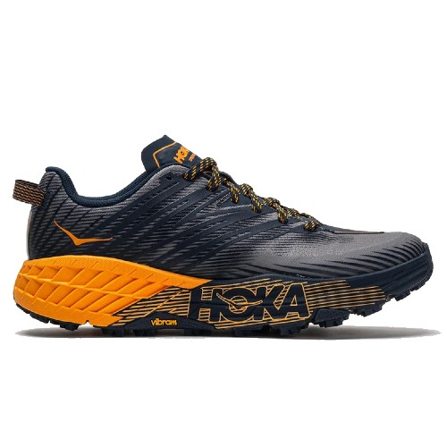 Hoka Speedgoat 4 Men's Black Iris / Marigold