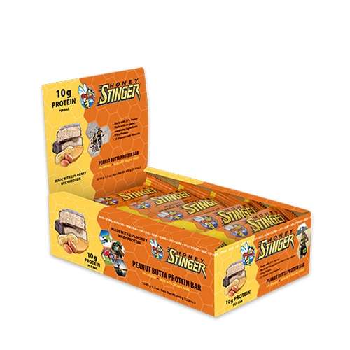 Honey Stinger Bars Box of 15 Protien Bars Peanut Butter