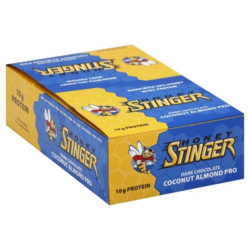 Honey Stinger Bars Box of 15 Protien Bars Coconut Almond