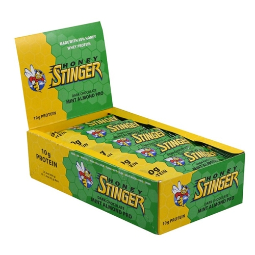 Honey Stinger Bars Box of 15 Protien Bars Mint Almond