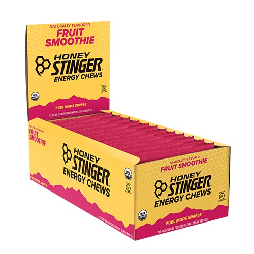 Honey Stinger Chews Case of 12 Organic Energy Fruit Smoothie