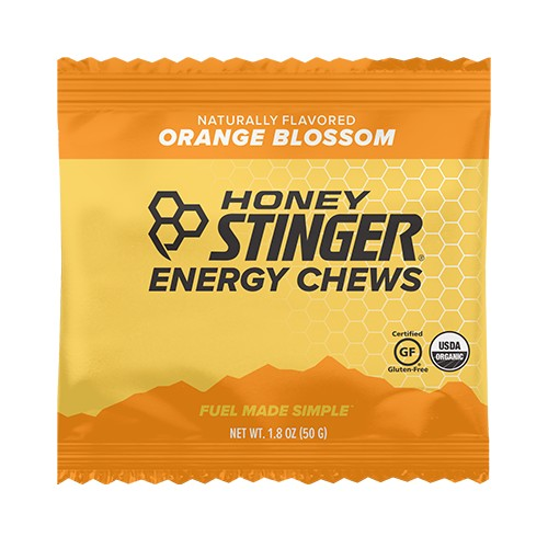 Honey Stinger Chews Single Organic Energy Orange Blossom
