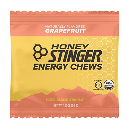 Honey Stinger Chews Single Organic Energy Grapefruit