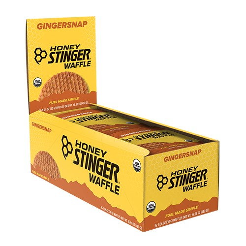 Honey Stinger Waffles Box/16 Gingersnap