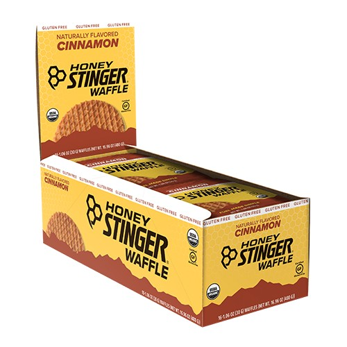 Honey Stinger Waffles Box/16 Cinnamon GF