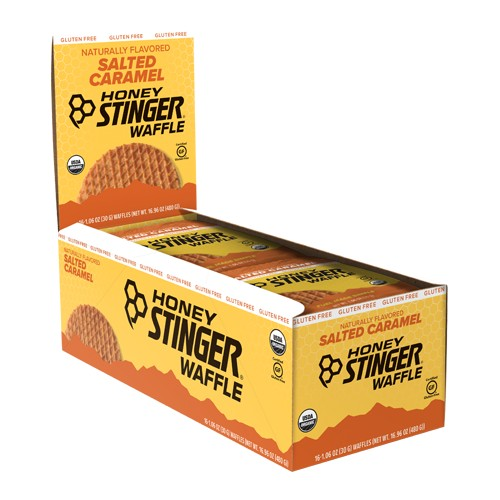 Honey Stinger Waffles Box/16 Salted Caramel GF