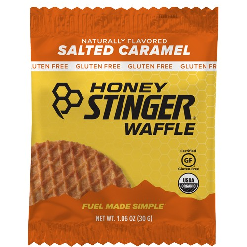 Honey Stinger Waffles Single Salted Caramel GF Single