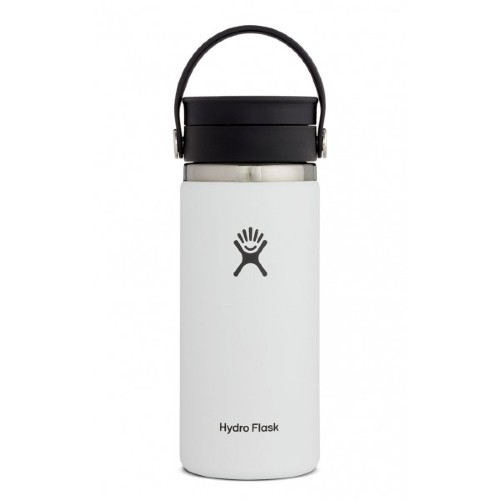 Hydro Flask 16oz Wide w/ Flip White