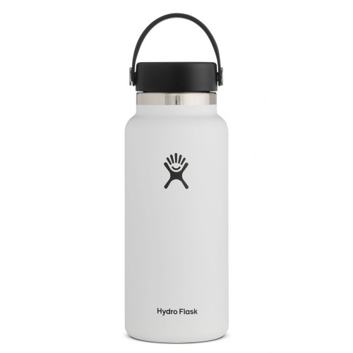 Hydro Flask 32oz Wide w/ Flex White