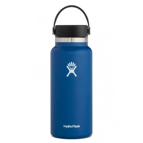 Hydro-Flask-32oz-Wide-w-Flex Cobalt