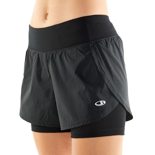 Icebreaker Impulse TRNG Short Women's Black - Icebreaker Style # 104625.001 S19